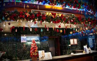 Как украсить ресторан к новому году