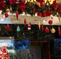 Новогодние украшения для ресторана