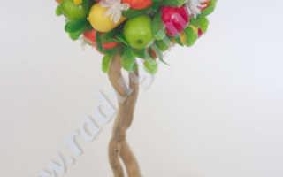 Топиарий из фруктов и цветов фото