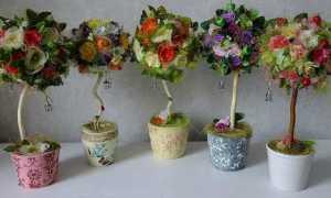 Чем наполнить горшок для искусственных цветов