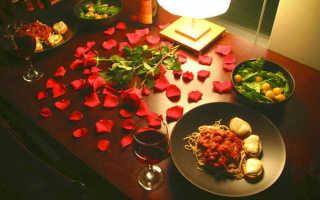 Как украсить романтический стол для любимого