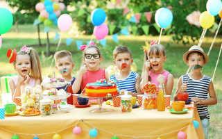 День рождения ребенка идеи