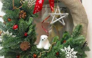 Новогодний рождественский венок своими руками