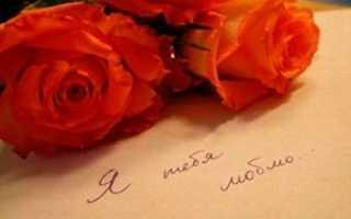 Признание в любви девушке до