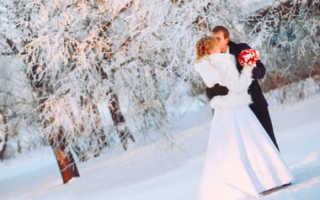Стиль зимней свадьбы