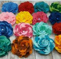 Красивые цветы из фетра