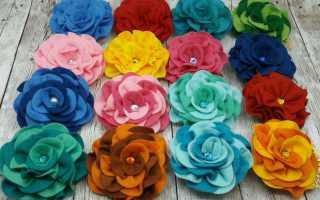 Цветы из фетра пошаговое фото