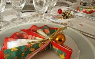 Салфетки для сервировки стола на новый год