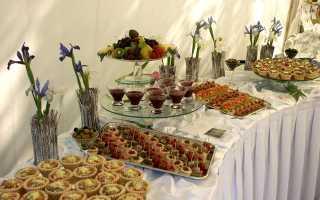 Шведский стол на день рождения