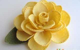 Цветы из фетра выкройка