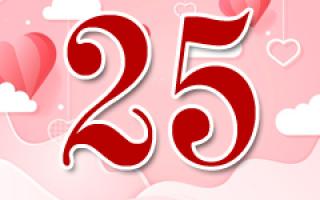 День рождения юбилей 25 лет девушке