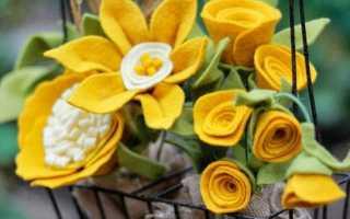 Картина цветы из фетра
