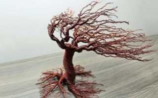 Поделка дерево из проволоки своими руками