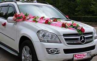 Цена аренды машины на свадьбу