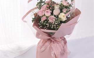 Как упаковать цветы в крепированную бумагу