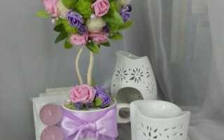 Мастер класс топиарий из цветов
