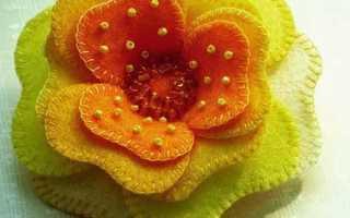 Большие цветы из фетра