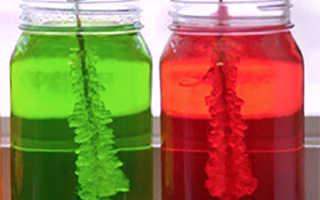 Как вырастить цветные кристаллы