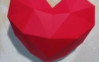 Как сделать из цветной бумаги сердце